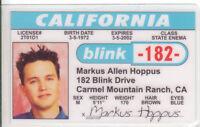 Rock Group Blink182 Mark H - Carmel Mountain Ranch California CA Drivers License