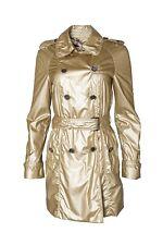 Burberry Pastel Metallic Gold Trench Coat UK 6 USA 4 IT 38 S Lightweight
