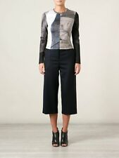NWT Yigal Azrouel Cropped Wide Leg Cashmere Trouser Pant Size 0 $1250 MSRP