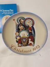 1973 Hummel Christmas Plate Sister Berta Hummel Schmid Original Box West Germany