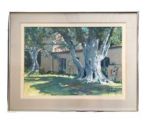 Sterling Smeltzer WPA Artist Painting Portuguese Bend Palos Verdes Cal Nixson
