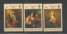 FALKLAND ISLANDS 1981 CHRISTMAS SG,409-411 U/M N/H LOT 3202A