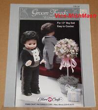 "Groom Tuxedo Doll Outfit Crochet Pattern Booklet - For 13"" Boy Doll"