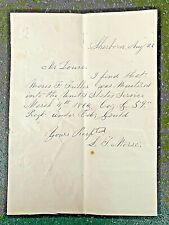 Civil War. Sherborn, Mass. Moses F. Fuller. 59th Regiment.