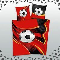 Herding Bettwäsche Fußball 80 x 80 cm 135 x 200 cm 100 % Baumwolle