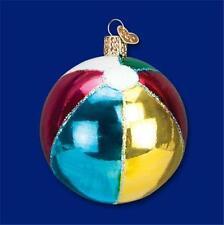 BEACH BALL OLD WORLD CHRISTMAS GLASS NAUTICAL OCEAN SUMMER ORNAMENT NWT 44073