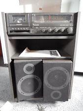 Schneider Musik Center System TS 1403 S, Radio Cassette Plattenspieler Boxen