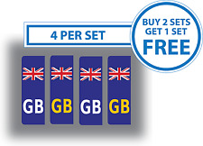 4 x Union Jack British Flag GB Car Number Plate Stickers Vinyl Self-Adhesive