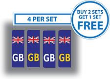 4 x Union Jack British Flag GB Car Number Plate Stickers Vinyl Self-Adhesive