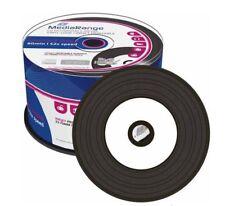 Mediarange Black Vinyl CD-R Printable Blank CD 52x 700MB MR226 50 DISCS Cake Tub