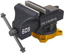 OLYMPIA 5 in. Bench Vise, Heavy reinforced 4 lug base