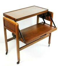 Art Deco Mahogany 2 tier Metamorphic Tea Trolley Table [5568]