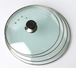 Tempered Glass Saucepan Casserole Frying pan Lid Glass Lid 14 To 34 CM Pan Lids