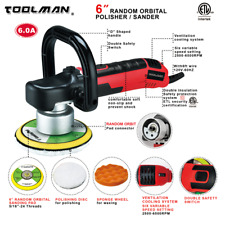Toolman 6 Variable Speed 6500 RPM Dual Auction Orbital Polisher Sander 6 inch