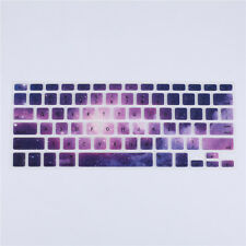 "Purple Galaxy Silicone Keyboard Skin Cover For Apple Macbook Air Mac 13""15""17"""
