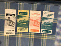 Lot of 4 Vintage Bus Line Timetables Schedules Carl R Bieber Kutztown PA
