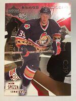 2003-04 Black Diamond Red Cut - JASON SPEZZA #28 Ottawa Senators 4/50 RARE
