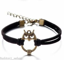 Newest  Design Vintage OWL Multilayer Bracelet Bangles for Women & Girls