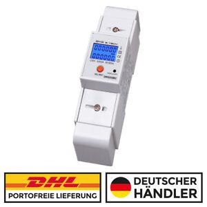 ***PORTOFREI ***  LCD Stromzähler 5(50)A Hutschiene, versch. Anzeigen + S0 Ausg
