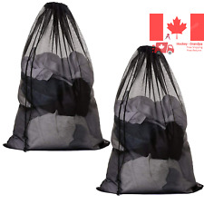 2Pcs Large Mesh Laundry Bag with Drawstring 27 35inch Washing Bag Net for Was...