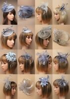 Silver Grey Fascinator Wedding Races Prom Ascot Occasion Wholesale Headpiece,