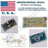 2cs PCB Board L78XX LM78XX LM7805 LM7812 Fixed Voltage Regulator