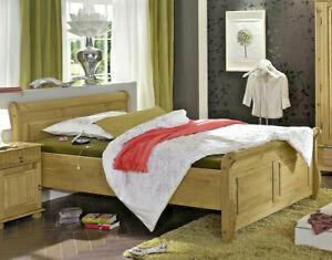 Massivholz Doppelbett 140x200cm Kiefer massiv gelaugt geölt holz Bett-gestell