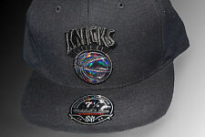 New York Knicks NBA Mitchell and Ness Black Out Fitted (7 1/8 ) Cap Hat RARE