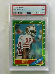 1986 Topps Jerry Rice #161 PSA 7 NM Rookie HOF