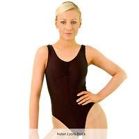Ladies Sleeveless Ballet Modern Dance Leotard Costume Shiny Nylon Lycra Adults