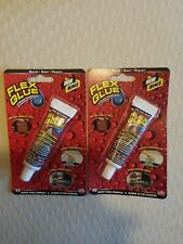 Flex Glue Mini Super Strong Rubberized Waterproof Adhesive 0.75oz 2 packages