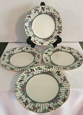 "Lot of 4 Antique BOOTHS Silicon China ""Springtime"" Dessert Plates"