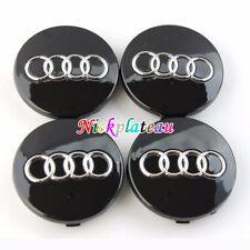 4Pcs Black Car Alloy Wheel Center Hub Cap Emblem Badge 60mm for AUDI A2 A3 A4 A6