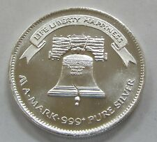 """1984 A-Mark Liberty 1oz. .999 Silver Art Round """"The Liberty Bell"""""""