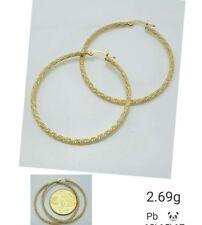 Gold Authentic 18k gold loop earrings