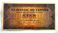 Spain Guerra Civil-Billete. 100 Peseta 1938. Burgos. EBC-/XF-. Escaso