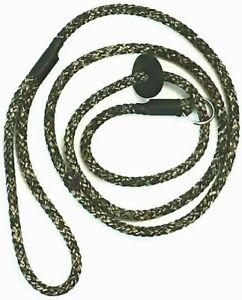 HANDMADE GREEN CAMO BRAID GUN DOG / PET SLIP LEAD 8 mm  LIGHTWEIGHT/STRONG NEW