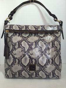Dooney & Bourke Python Sloan Hobo & Shoulder Handbag LD Suede Lambskin Leather