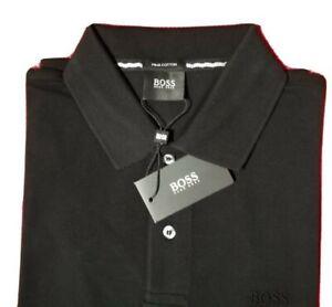 HUGO BOSS Poloshirt Herren Größe L schwarz Pima Cotton Neu mit Etikett