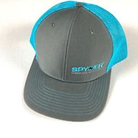 Spyder Snapback Hat Mens One Size Power Tool Accessories Blue Gray Trucker Adult