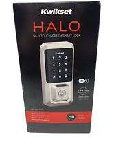 KWIKSET HALO SATIN NICKEL WI-FI SMART TOUCHSCREEN KEYLESS DEADBOLT  99390-001
