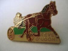 PINS RARE VINTAGE REVE D'UDON COURSE de TROT CHEVAL SULKY JOCKEY HORSES wxc 1