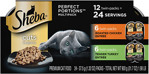 SHEBA PERFECT PORTIONS Soft Wet Cat Food Cuts in Gravy Roasted Chicken Entrée