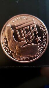 American made Silver towne Eagle on Shield Copper Round - 1 oz .999 BU