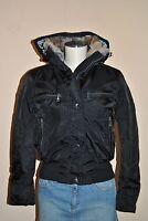 Marken Winterjacke Jacke von Miss Pink´s mit Kapuze schwarz neu