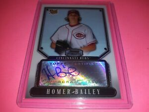 Homer Bailey RC Auto 2007 Bowman Sterling Cincinnati Reds