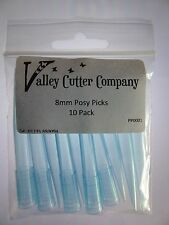 Flower Posy Picks (10 pack) 8mm diameter 70mm Length, Sugarcraft Cake Decorating