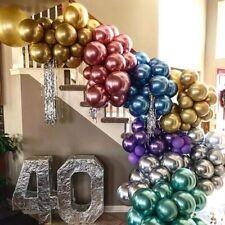 12x 12inch Metallic Balloons Latex Balloon Wedding Birthday Party Supplies Decor