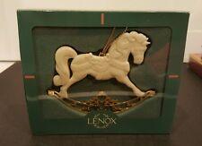 Christmas Ornament Lenox Rocking Horse Bone China w/Gold Rocker & Back - 1994