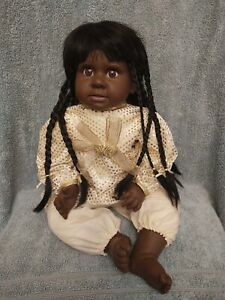 "Heritage Mint LTD African American Doll 20"" -2007 Long Black Hair"